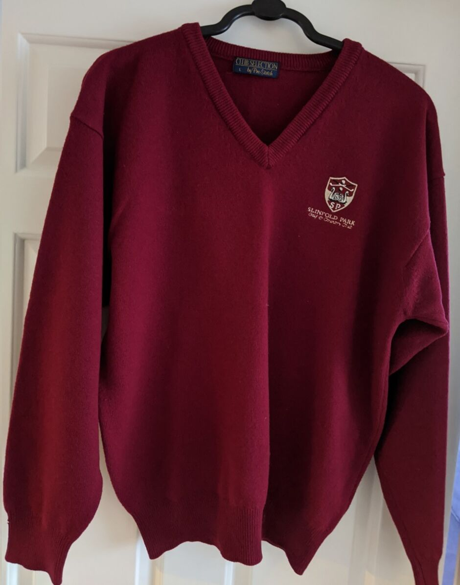 Slinfold burgundy sweater
